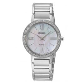 Seiko SUP431P1 Solar Ladies' Watch with Crystals