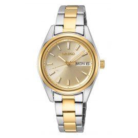 Seiko SUR354P1 Damen-Armbanduhr Bicolor mit Saphirglas
