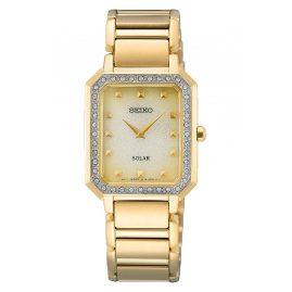 Seiko SUP444P1 Women's Watch Solar Gold Tone