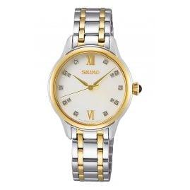 Seiko SRZ540P1 Damen-Armbanduhr Bicolor mit Diamanten