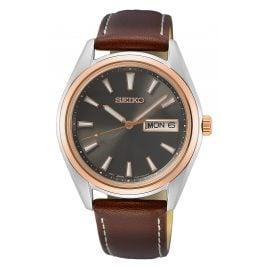 Seiko SUR452P1 Armbanduhr mit Saphirglas Braun/Anthrazit