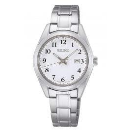 Seiko SUR465P1 Women's Watch with Sapphire Crystal Steel/White