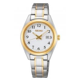Seiko SUR466P1 Damen-Armbanduhr mit Saphirglas Bicolor