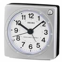 Seiko QHR201S Radio Controlled Alarm Clock Silver