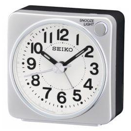 Seiko QHE118S Alarm Clock Silver