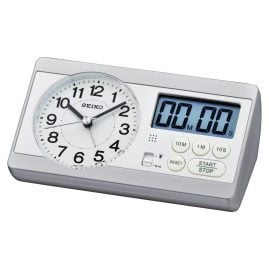 Seiko QHE152S Alarm Clock with Stop Watch and Timer