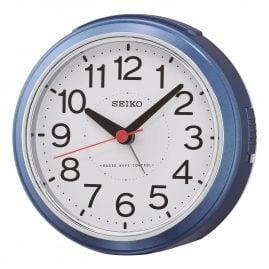 Seiko QHR026L Radio-Controlled Alarm Clock Blue
