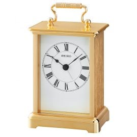 Seiko QHE093G Table Alarm Clock Gold Tone