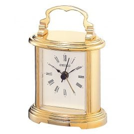 Seiko QHE109G Table Alarm Clock Gold Tone