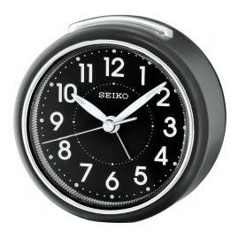 Seiko QHE125K Alarm Clock with Silent Movement Black