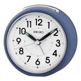 Seiko QHE125L Alarm Clock with Silent movement Blue