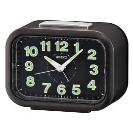 Seiko QHK026K Alarm Clock with Bell Alarm Black