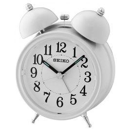 Seiko QHK035C Glocken-Wecker mit Leisegang creme-weiß