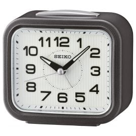 Seiko QHK050N Bell Alarm Clock with Snooze anthracite