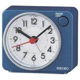 Seiko QHE100E Alarm Clock Quartz Blue without Ticking