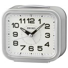 Seiko QHK050S Wecker mit Klingel-Alarm Silberfarben ohne Ticken