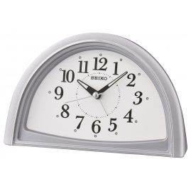 Seiko QHE166S Alarm Clock Quartz without Ticking Silver Tone