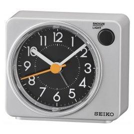 Seiko QHE100A Alarm Clock Quartz Silver without Ticking
