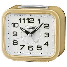 Seiko QHK050G Alarm Clock Bell Alarm Gold Tone without Ticking
