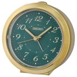 Seiko QHE187F Wecker Quarz Leisegang beige / gold