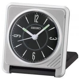 Seiko QHT015A Reisewecker Schwarz / Silber