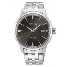 "Seiko SRPE17J1 Presage Men's Automatic Watch ""Cocktail"" silver / anthracite"