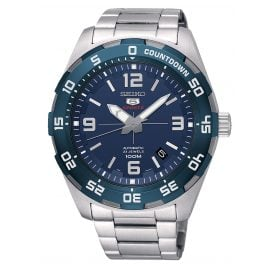 Seiko SRPB85K1 Automatic Watch for Men Stainless Steel Blue