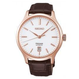 Seiko SRPD42J1 Presage Men's Automatic Watch Brown Leather Strap