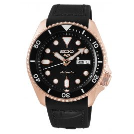 Seiko 5 Sports SRPD76K1 Men's Watch Automatic black / rose gold
