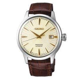 Seiko SRPC99J1 Presage Automatic Men's Watch gold tone / brown