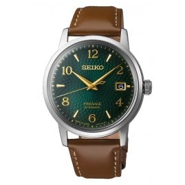 Seiko SRPE45J1 Presage Automatic Watch for Men Brown/Green