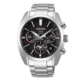 Seiko SSH021J1 Astron GPS Solar Men's Wristwatch Dual Time