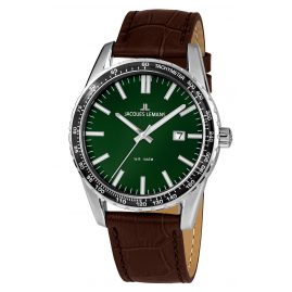 Jacques Lemans 1-2022F Men's Wristwatch Liverpool Green Ø 44 mm