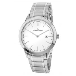 Jacques Lemans 1-2096B Gents Wristwatch White Ø 40 mm