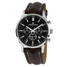 Jacques Lemans 1-2025A.1 Men's Watch Chronograph London Brown Leather Strap