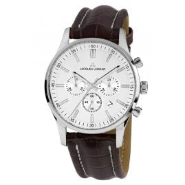 Jacques Lemans 1-2025B.1 Herren-Armbanduhr Chronograph London Lederband