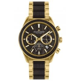 Jacques Lemans 1-2115L Eco-Power Men's Watch Solar Chronograph Gold Tone