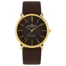 Jacques Lemans 1-2105B Eco-Power Unisex Solaruhr Braun/Goldfarben