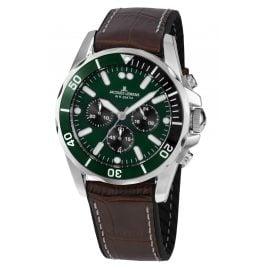 Jacques Lemans 1-2091C Herren-Armbanduhr Chronograph Liverpool Braun/Grün