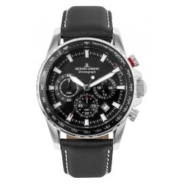 Jacques Lemans 1-2099A Herrenuhr Chronograph Liverpool Schwarz