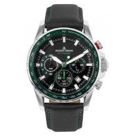 Jacques Lemans 1-2099C Herren-Armbanduhr Chronograph Liverpool Schwarz/Grün