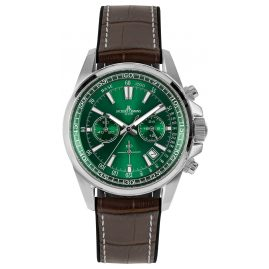 Jacques Lemans 1-2117D Herren-Armbanduhr Chronograph Liverpool Braun/Grün