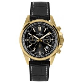 Jacques Lemans 1-2117E Herrenuhr Chronograph Liverpool Schwarz/Goldfarben