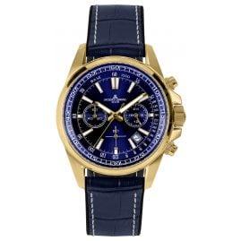 Jacques Lemans 1-2117G Herren-Chronograph Liverpool Blau / Goldfarben