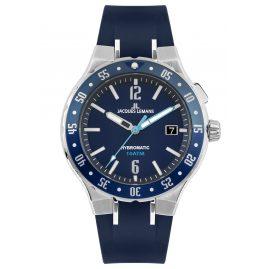 Jacques Lemans 1-2109C Herren-Armbanduhr Hybromatic mit Silikonband Blau