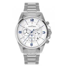 Jacques Lemans 1-2118E Herren-Chronograph Weiß