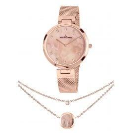 Jacques Lemans 1-2001H-SET Schmuckset Damenuhr und Halskette