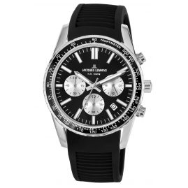 Jacques Lemans 1-2059A Wristwatch Chronograph Liverpool Black Ø 39 mm