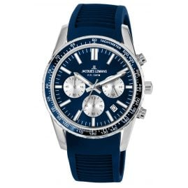 Jacques Lemans 1-2059C Armbanduhr Chronograph Liverpool Blau Ø 39 mm