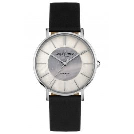 Jacques Lemans 1-2112A Eco-Power Damen-Armbanduhr Solar Schwarz
